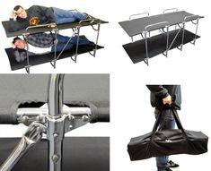 two-person-camping-bed...  A cot, for two?  Nice! #camping #outdoors