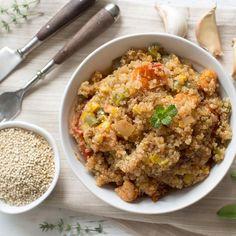 Quinoa risotto with coconut milk and vegetables - Rowen Killimister Surimi Recipes, Endive Recipes, Veggie Recipes, Vegetarian Recipes, Cooking Recipes, Healthy Recipes, Healthy Food, Seafood Recipes, Tostadas