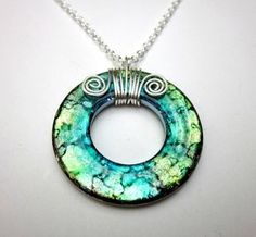 Wire Wrapping on a Washer Necklace.  I don't want to buy it on a website, I want to make one.
