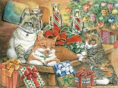 Christmas cats by Parker Fulton