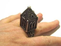 Russian Judaica silver ring