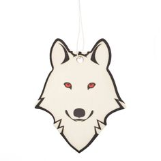 Cool TV Props Dire Wolf Air Freshener, Inspired by Ghost on Game of Thrones Game Of Thrones Ghost, Game Of Thrones Fans, Wolf Name, Game Of Thrones Merchandise, Ghost Cartoon, Dire Wolf, Air Freshener, Gag Gifts, Car Stickers