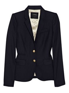 J. Crew Schoolboy Blazer...my navy jacket is a wardrobe staple!