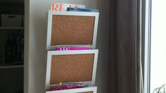Transform A Wall-mounted Magazine Holder Into A Space-saving Message Center