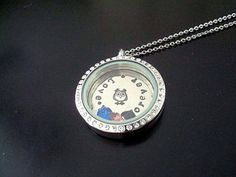 Locket  Custom Hand Stamped  Floating Memory by CrookedCrystal