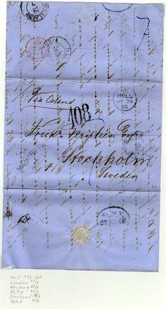 Avstämlat Hull 24/7 1860, London 25/7, Hamburg 27/7, St.P.A. 27/7, Stralsund 29/7, Ystad 30/7.