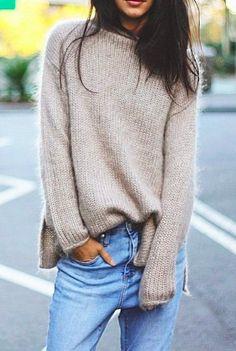 relaxed cashmere + denim #urbanrenewal