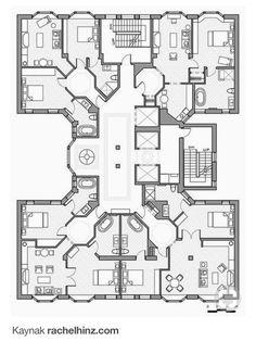 Apartment Plans Sims Barns Apartments House Buildings Villa