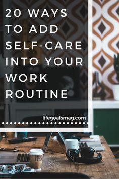 20 Ways To Add Self-Care Into Your Work Routine And Watch Your Productivity Increase Majorly Evening Routine, Night Routine, Morning Routines, Self Care Activities, Self Care Routine, Self Development, Personal Development, Stress Relief, Stress Free