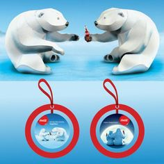 Tektonten Papercraft - Free Papercraft, Paper Models and Paper Toys: Papercraft Coca-Cola Polar Bears and Ornament