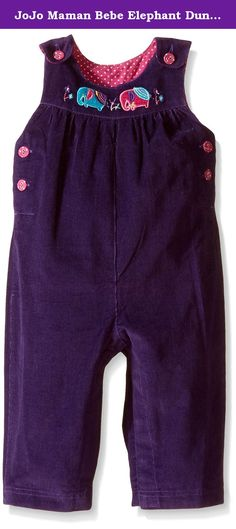 JoJo Maman Bebe Elephant Dungarees (Baby) - Mulberry-6-12 Months. JoJo Maman Bebe Elephant Dungarees (Baby) - Mulberry A smarter version of a classic. Features: Machine Washable Sweet dungarees in soft babycord lined with lovely elephant embroidery to front bib. With button adjustable straps and popper leg openings for easy changing. Machine washable at 40 degrees.