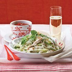 Rice #Noodle Salad with #Chicken and Herbs