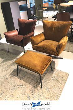 746f2a5572d De Gaucho fauteuil van Bree's New World. Verkrijgbaar op draaivoet of  pootjes. Ook leverbaar