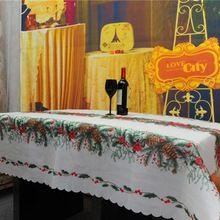 2016 toalhas de mesa toalhas de mesa toalha de mesa retangular branco da árvore de Natal de ano novo decorações do casamento de mesa de linho cobre.(China)