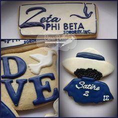 Zeta Phi Beta cookies
