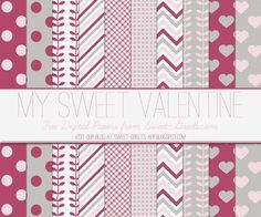 Just Peachy Designs: Free Valentine's Day Digital Paper Set