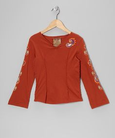 Take a look at this Auburn Embroidered Top - Girls by Da-Nang on #zulily today!