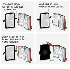 By The Awkward Yeti, via Ebook Porn. I Love Books, Good Books, Books To Read, My Books, Reading Books, Books Vs Movies, Guided Reading, Book Memes, Book Quotes