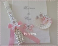 Patyarte Baptism Candle, Candle Art, First Holy Communion, Baby Wearing, Holi, Easter, Candles, Party, Gifts