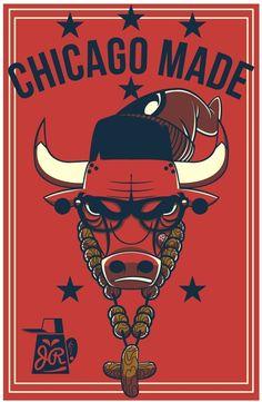 Bulls 'Chicago Made' Logo - Hooped Up