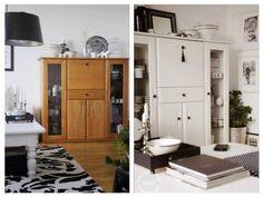 Malowanie mebli - wszystko o malowaniu i wyborze farby do mebli Old Furniture, Upcycled Furniture, Furniture Makeover, Hacks Diy, Ikea Hacks, Tall Cabinet Storage, Diy And Crafts, Sweet Home, Home And Garden