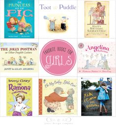 book week with jones design company: favorite books for girls (more great suggestions in the comments section!)