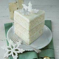 White holiday cake