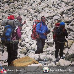 Repost from @seanjdjames using @RepostRegramApp - Rinzi Wongi Chonghhba and Singe our Sherpas paying their respects before heading up to Camp 1 today.  We will reunite with them tomorrow and then proceed to C2 C3 then hopefully the summit on the 15th May.  We are all in good health and eager to get moving again. The weather window has arrived and we all hope to stand on the 6th highest point on the planet.  #thuraya #cygnustelecom #china #nepal #Tibet #lhasa #mydubai #climbing #mountains…