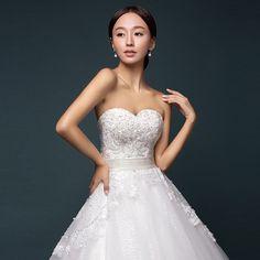 Xi Luosha 2015 new bridal fashion tutu dress Bra straps lace wedding dress
