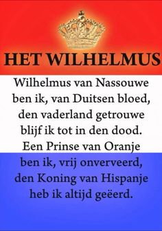 Het Wilhelmus...so funny, we all learned to sing this when we were kids at Redlands Chiristian school. After all, what would our Dutch Festival be without singing the Dutch National Anthem?