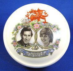 Sadler Powder Box Royal Wedding Charles Diana Jewelry Box 1981 Trinket
