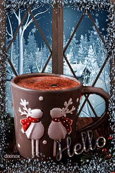 The perfect HelloSaysRudolph Cocoa HotCocoa Animated GIF for your conversation. Discover and Share the best GIFs on Tenor. Xmas Gif, Merry Christmas Wishes, Merry Little Christmas, Merry Christmas And Happy New Year, Christmas Greetings, Christmas Cards, Christmas Decorations, Christmas Photo, Christmas Scenes