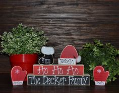 Holiday Decor Christmas Stacker Personalized by BlocksOfLove1