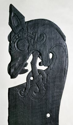 Bed post from the Gokstad ship burial viking