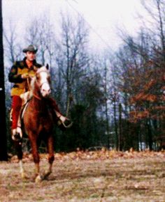 29-Elvis horseback riding at Circle G. Ranch 1967