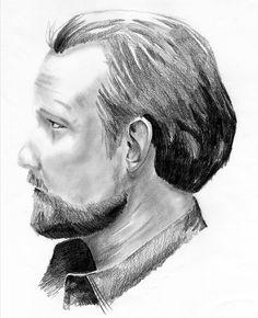 """The Defendant"" #drawing #draw #l4l #illustration #art #artist #sketch #pencil #profile #beard"