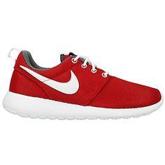 Nike Rosherun (GS) Laufschuhe gym red-white-dark grey