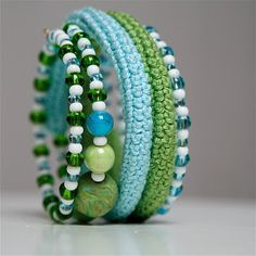 @Barb Mauer- do you know how to make those bracelets?  the crocheted ones?  The page is in another language, but it doesn't have a tutorial anyway.  I checked. :)