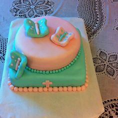 Baptism cake for a friends baby girl.