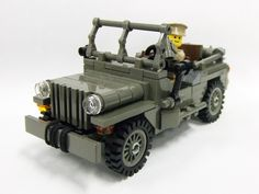 """If you do a sort of the Cuusoo project by """"most recent"""" and go all the way to end you will find Suzuki. Lego Ww2, Lego Lego, Lego Design, Military Jeep, Military Vehicles, Best Lego Sets, Lego Ninjago Movie, Lego Room, Cool Lego Creations"""