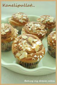 Baking my dream cakes: Kaneli- ja vaniljakreemipullat (Kanel- och vaniljkrämbullar) Tart, Muffin, Breakfast, Food, Morning Coffee, Pie, Essen, Tarts, Muffins