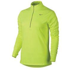 Nike Women's Dri-Fit Element Half-Zip 685910, Volt