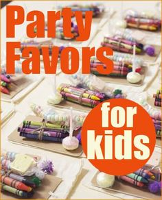 Goodie Bags.  Get outside the box with these fun favor ideas the little kiddos are sure to love!