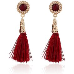 Pair Of Tassel Earrings For Woman (410 INR) ❤ liked on Polyvore featuring jewelry, earrings and tassel earrings