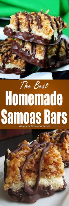 Homemade Samoas Bars – Home | delicious recipes to cook with family and friends.