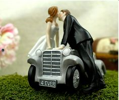 Ill Love U 4 EVER Car Wedding Cake Topper