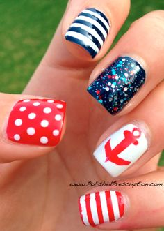 Polished Prescription: Nautical #nail #nails #nailart