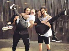 These Pictures of the Descendants Cast Hanging Out Prove They Really Are One Big Family - - The kids of the Isle of the Lost stick together, and the same goes for the Descendants cast. After filming three movies together over the past five years, the. The Descendants, Cameron Boyce Descendants, Disney Channel Descendants, Stars Disney Channel, Disney Stars, Best Friend Pictures, Friend Photos, Descendants Acteurs, Cameron Boys