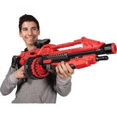 World Tech Warriros Prime Motorized Dart Blaster, Red