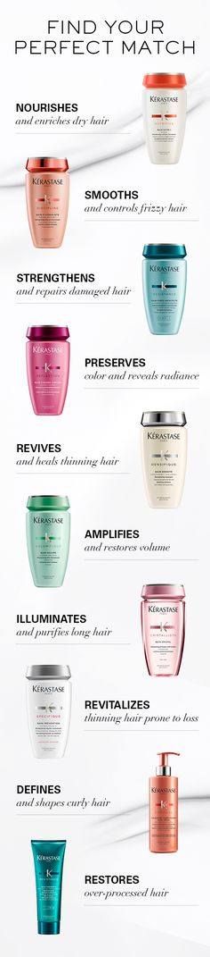 Kerastase offers home care programs to meet the needs of every hair type. Discover which Kerastase shampoo, conditioner, and mask is your perfect match.